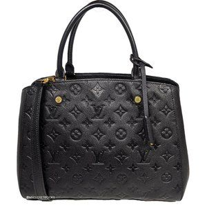 Louis Vuitton Empreinte Montaigne MM Black Leather